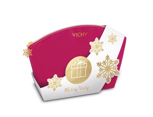 Vichy_Xmas plišana torbica_pink