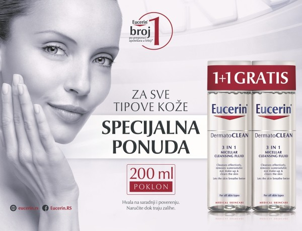 Eucerin Micelarna 1+1 najava