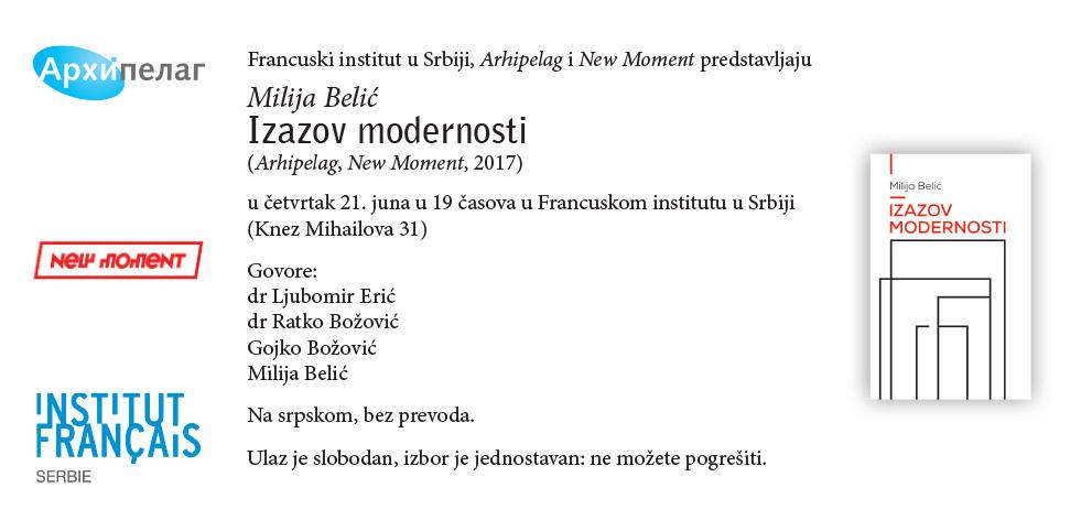 Milija Belic_Izazov modernosti_E-pozivnica