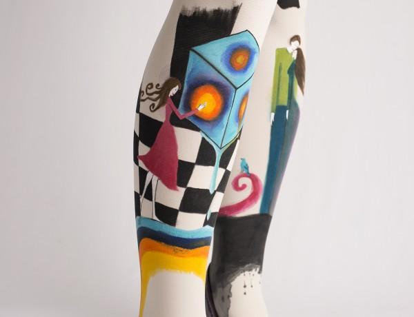 ručno oslikane movanas čarape